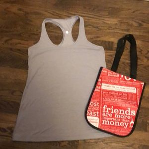 Lululemon light purple heathered racerback tank